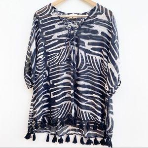 Show Me Your Mumu | Zebra Print Sheer  Coverup OS